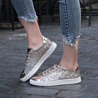 ZENVBNV Women Shoes Fashion golden Sneakers Chunky Vulcanize Shoes Female Spring Platform Tenis Feminino Women Casual Shoes