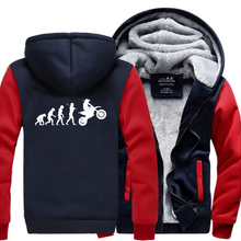 HAMPSON LANQE Moto Biker Dirtbike Evolution Motocross Hip Hop Hoodies 2019 Winter