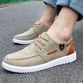 Los hombres-Top Zapatillas Para Caminar Pisos Casual Zapatos de Lona Transpirable Zapatos Planos con cordones Para Hombre Macho Moda Primavera Otoño Zapatos