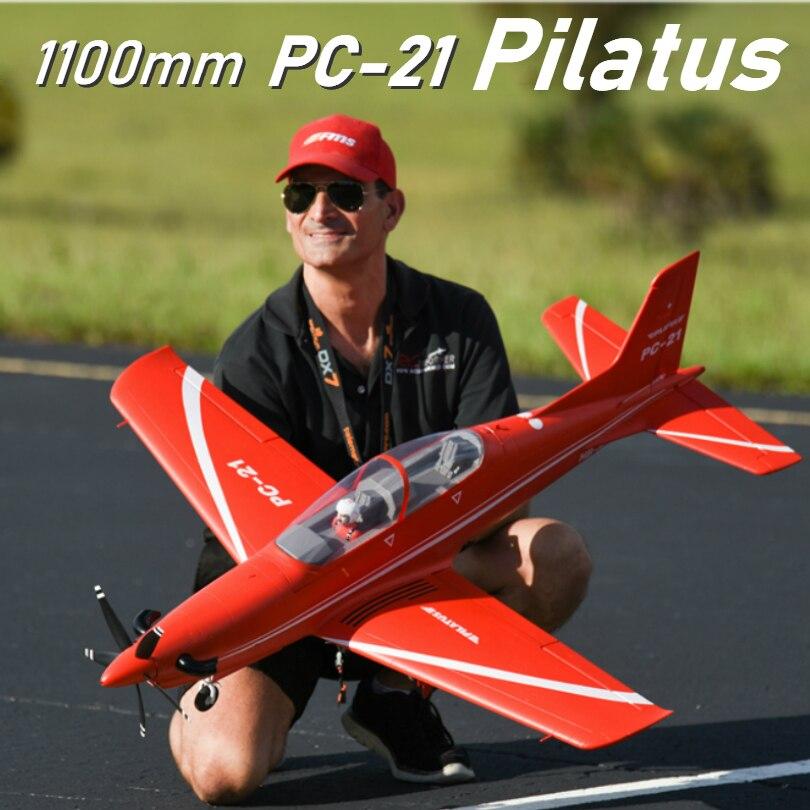 Fms 1100mm 1.1 m PC 21 pc21 tus tus rc 비행기 유럽 트레이너 pnp retracts 4 s 6ch epo 모델 취미 비행기 항공기 avion-에서RC 비행기부터 완구 & 취미 의  그룹 1