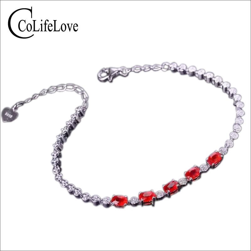 Elegant gemstone silver bracelet 5pcs 3*5mm 2ct natural blood red ruby bracelet solid 925 sterling silver ruby bracelet for girl аксессуар защитное стекло для iphone xr pero 2 5d black