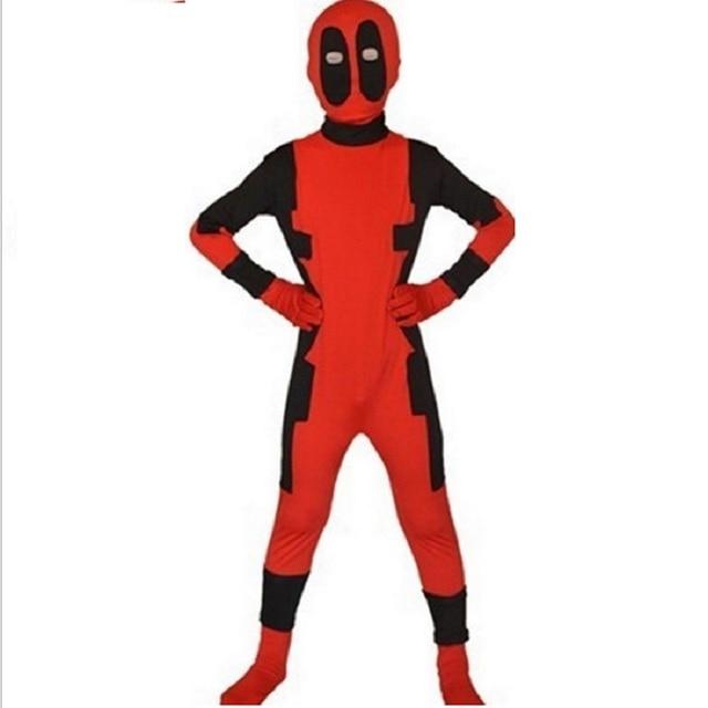 zentai boys costumes for kids spandex suit men mascara deadpool cosplay  costume mask child kid adult lycra spandex bodysuit 2cea53984855