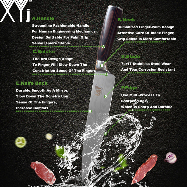 Chef Knife Set Stainless Steel Knife Tools