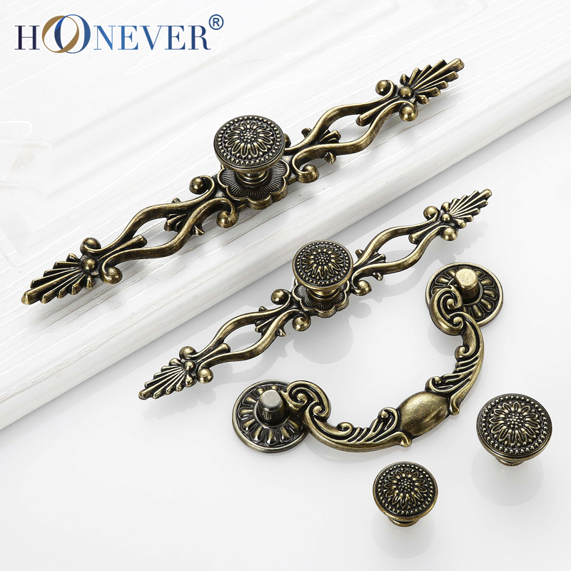 5pcs antique door handle furniture knobs and handles for - Tiradores de puertas de armarios ...