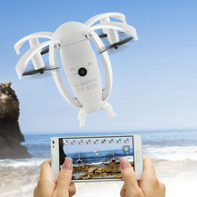 RC Helicopters Ready-To-Go Egg Selfie Mini Drone Quadcopter Folding Transformable RTF 0.3MP Wifi Fpv 2.4G 4Ch 6-Axis Led No20b