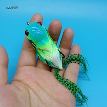 TSURINOYA 5PCS/LOT NEW Fishing Lure Frog 15.5g/65mm 5colors big size Cicada Froggy  Topwater Plastic Snakehead Frogs