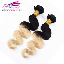 Grade 7A Blonde Brazilian Hair Bundles 2 Piece Ombre 1b 613 Body Wave Human Hair Weave