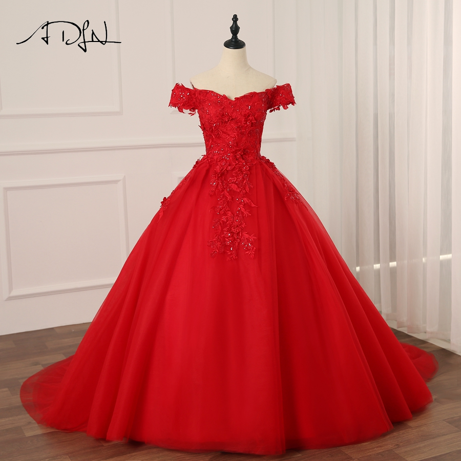 adln vintage red wedding dresses sweep train off the. Black Bedroom Furniture Sets. Home Design Ideas