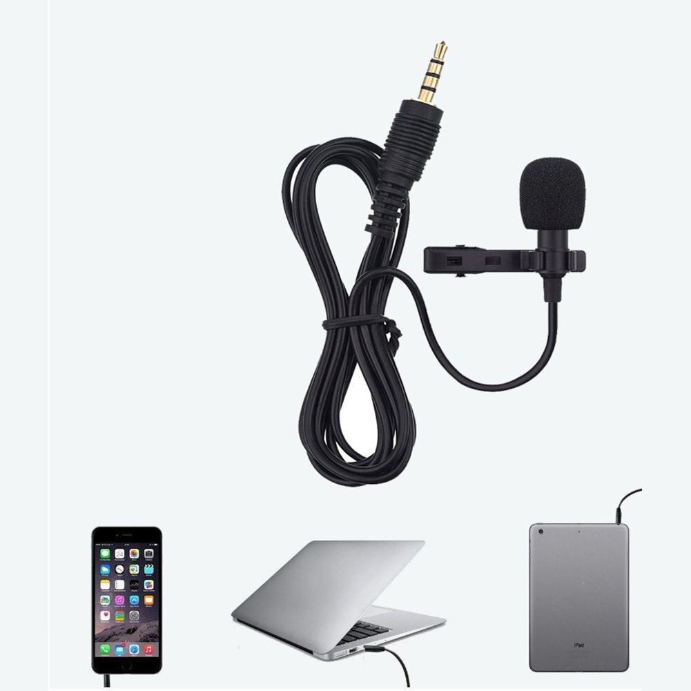 Kuulee Clip-on Lapel Lavalier MicrophoneMini Portable Clip-on Lapel Lavalier Microphone Hands-free 3.5mm Jack Condenser Wired Mi