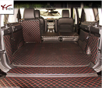 Good mat! Special trunk mats for Land Rover Discovery 4 5 seats 2016 2010 waterproof cargo liner mats boot carpets