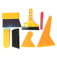 7pcs Car Window Tint Tools Kit Set Fitting For Film Tinting Scraper Application