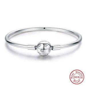 Image 2 - Браслет из серебра 925 пробы, браслет из серебра 925 пробы с подвеской в виде кошачьего сердца, браслет для изготовления ювелирных украшений
