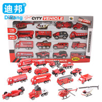 Slide 16pcs Model Alloy Fire Engines Truck Diecasts Toy Vehicles 1:64 Car Children Educational Toys Simulation Model Gift Boys