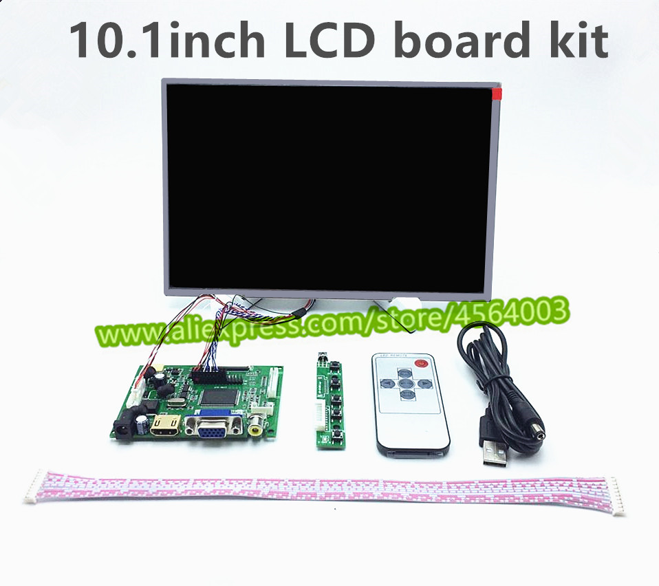 10.1 Inch HD 1280*800 HDMI VGA 2AV LVDS Display Screen Controller B101EW05 LCD Monitor Driver Board Raspberry Pi Panel Module
