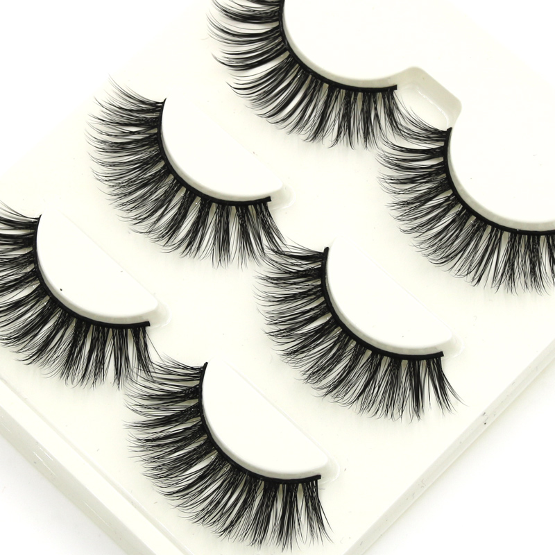 YOKPN D-2 Natural Long Lashes Criss cross Messy 3D Stereo Multi-layer False Eyelashes Performance Banquet Makeup Fake Eyelashes