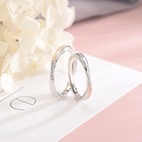 925 Silver Couple Personalized Ring Male and Female A Sterling Silver Pair Precepts Simple Fashion Engraving Ring