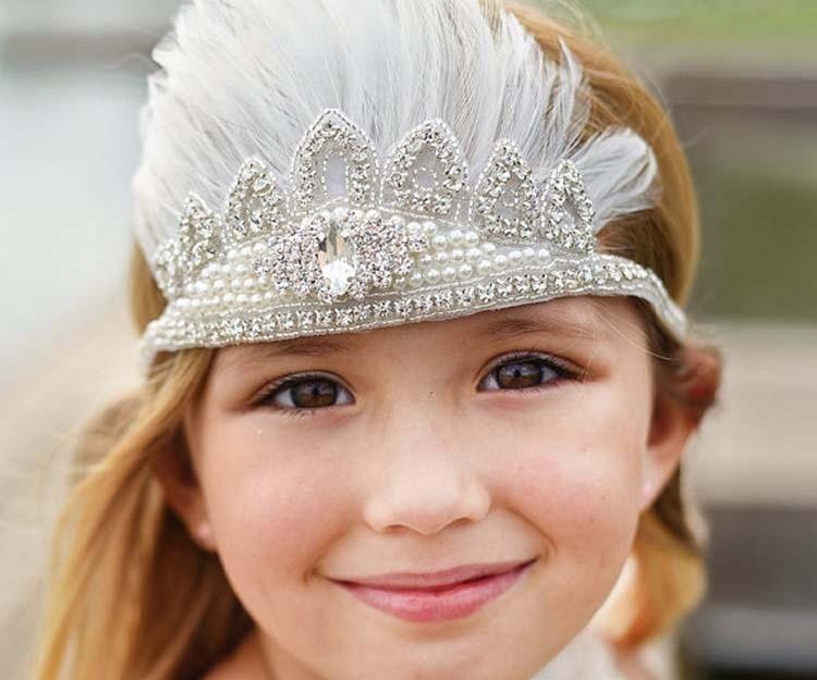 5tk või rohkem 15% alla Tasuta saatmine Pearls & Rhinestone Child - Beebiriided - Foto 1