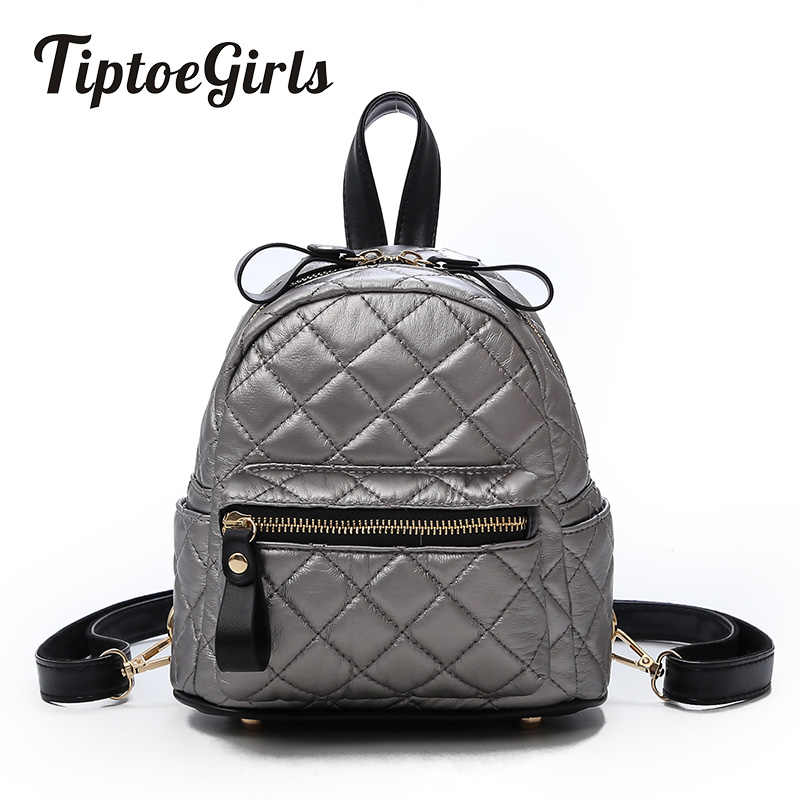 Mini Personality Lingge Pattern Ladies Backpack Korean Version of the New  Fashion High Quality Casual Wild e0381472a60d