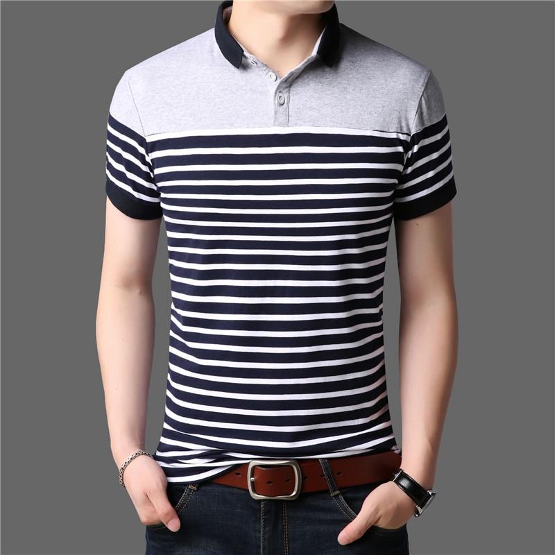 ARCSINX Striped   Polo   Shirt Men Summer Mens   Polo   Shirt Brands 5XL Men's Clothing Large Size Short Sleeve Cotton   Polo   Shirt Men