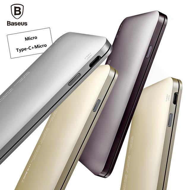 Baseus 5000 mah banco de potência com carga rápida usb 3.0 tipo c para iphone xiaomi samsung carregador portátil powerbank bateria externa