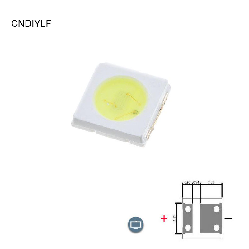 Cool White 3535 SMD LED TV Backlight 1W 3V-3.7V 300ma 85lm Fast Shipping Via Aliexpress Air Mail