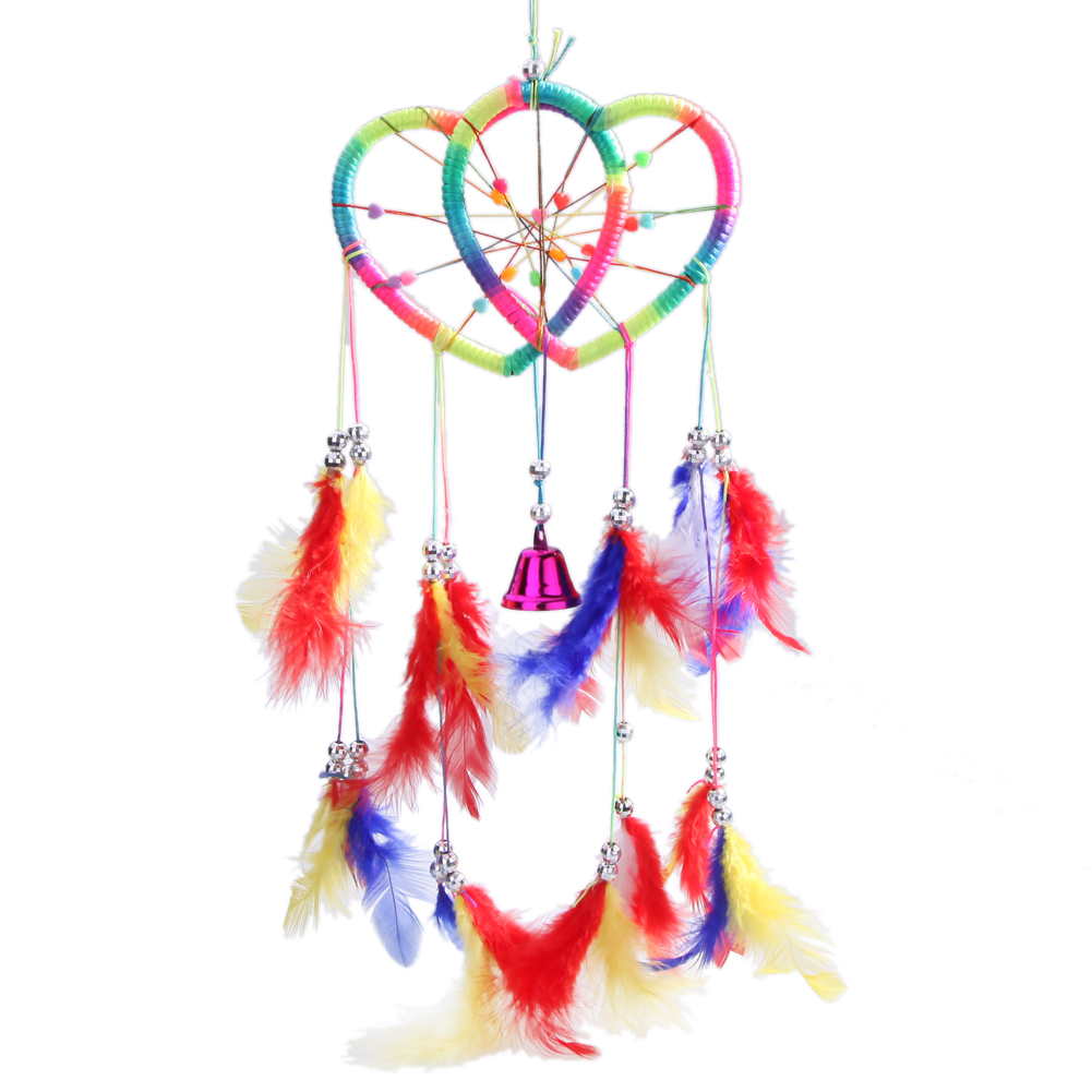 Handmade Car Decorated Handicrafts Dream Catcher With Feathers Wall