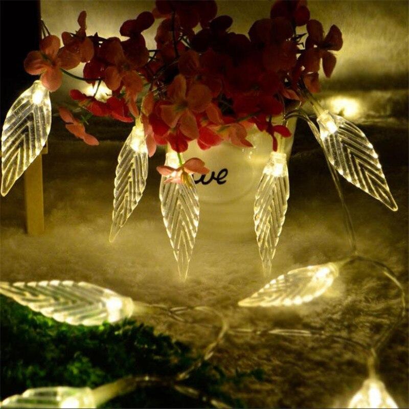 3M 20leds Leaf Garland battery String Lights Fairy Christmas Outdoor Light Garden Decoration For Home Lighting