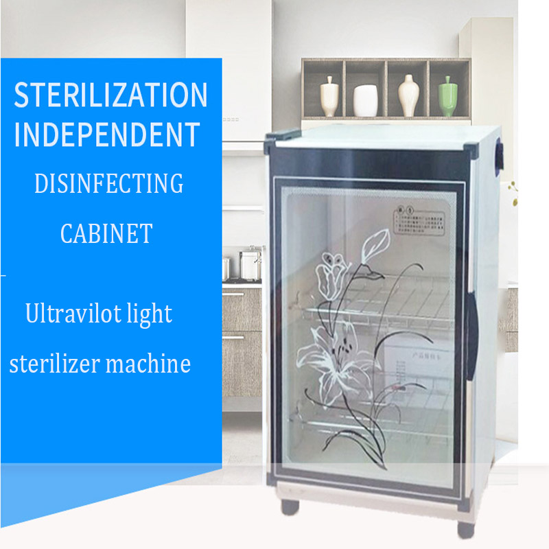 Home Mini Electric Ultraviolet Light Sterilizer Vertical Tableware Disinfecting Cabinet 68L Cupboard Tea Tableware Disinfector