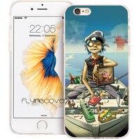 Coque Capa Gorillaz Boat Transparent Soft TPU Silicone Phone Cover for iPhone 7 7Plus Case for iPhone 5S 5 SE 6 6S 6Plus 4S Case