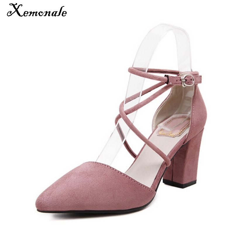 Xemonale Cross-tied Women Sandals Summer Sexy Square High Heels PU Leather Wedding Shoes Woman Elegant Pumps 3 Colors  37105  rome new sexy high heels wedding shoes woman 2017 brand cross tied women luxury retro square toe gladiator sandals women boots