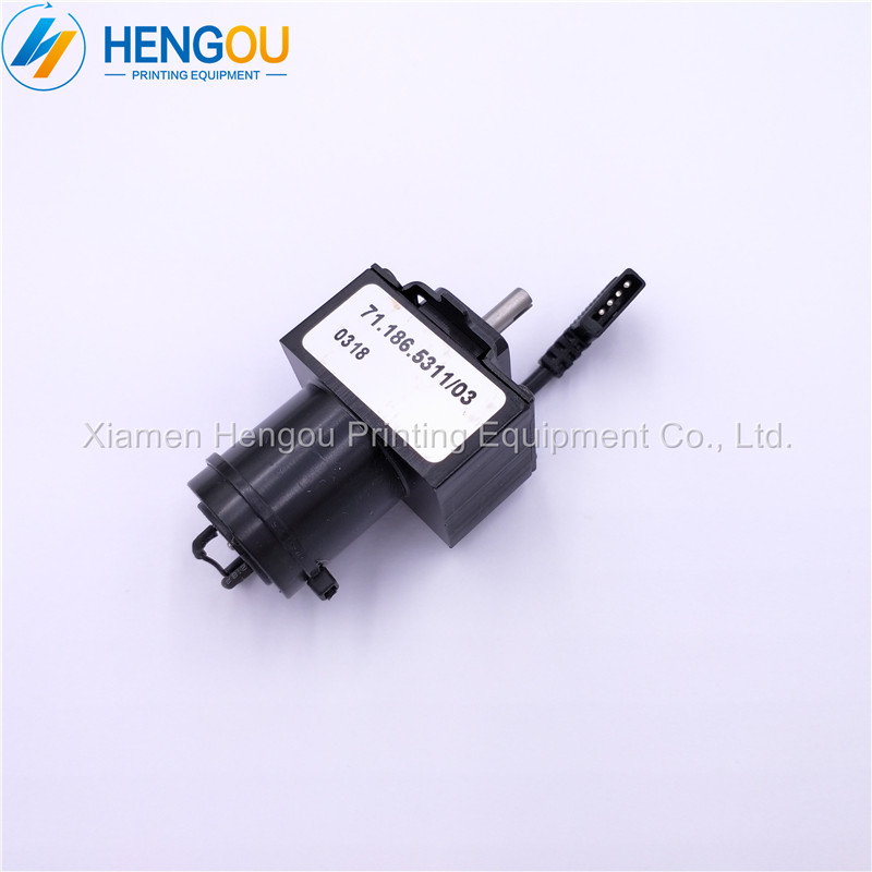 2 Pieces new Hengoucn ink key motor 71.186.5311 Hengoucn SM102 CD102 machine parts2 Pieces new Hengoucn ink key motor 71.186.5311 Hengoucn SM102 CD102 machine parts
