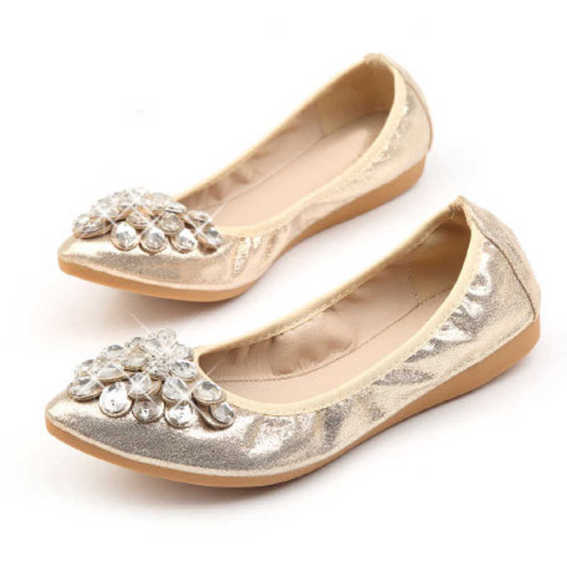 ... HEE GRAND 2018 New Women Flower Flats Slip PU Casual Shoes Round Toe  Student Flat Shoes ... 29168a8e5d98