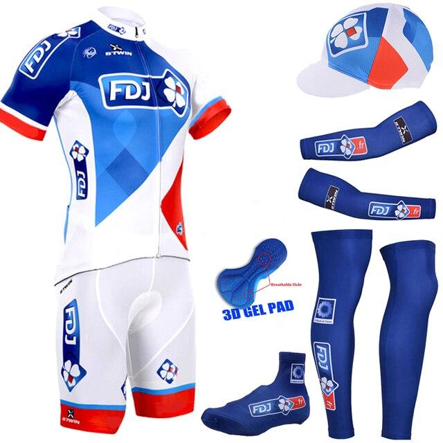PRO FDJ CYCLING JERSEY bike short suit racing team 2016 FDJ JERSEY CYCLING  SHORTS BICYCLE SUIT 100% polyester 6 in 1 db537d31c