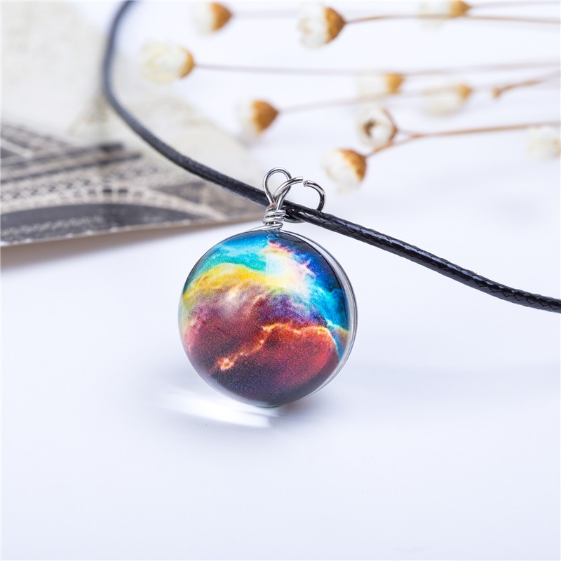 HTB1GjJQKVXXXXXKaXXXq6xXFXXXL - Collares Duplex Planet Crystal Stars Ball Glass Galaxy Pattern