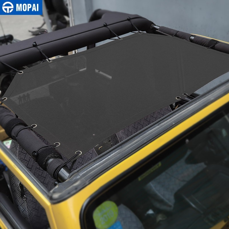 Image 2 - MOPAI Car Top Sunshade Cover for Jeep Wrangler TJ 1997 2006 Car Trunk Roof Anti UV Sun Protect Insulation Hammock Bed Rest Net-in Car Covers from Automobiles & Motorcycles