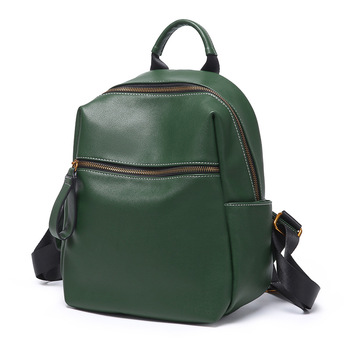 Women Fashion Pure Color Leather School Bag Backpack Satchel Women Travel Shoulder Bag Girls Rucksacks mochila feminina New C959
