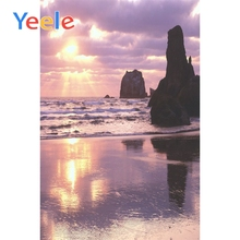 Yeele Seaside Waves View Photographic Backdrops Stone Cloud Sunset Scenery Photography Backgrounds Customized For Photo Studio