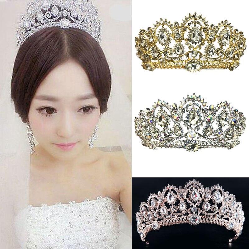 Wedding Bridal Crystal Crown Headband Princess Tiaras Headdress Women Girl Hair Accessories @M23