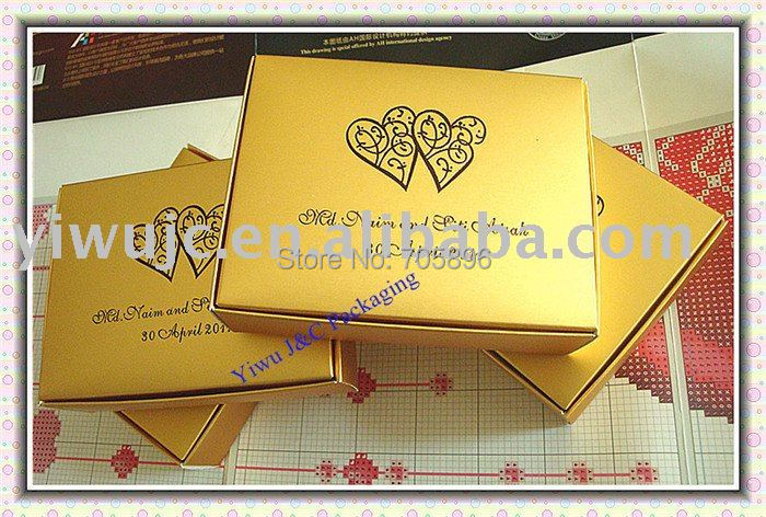 100pcs High Quality Gold Party Cake Slice Boxesgift Box Party Box