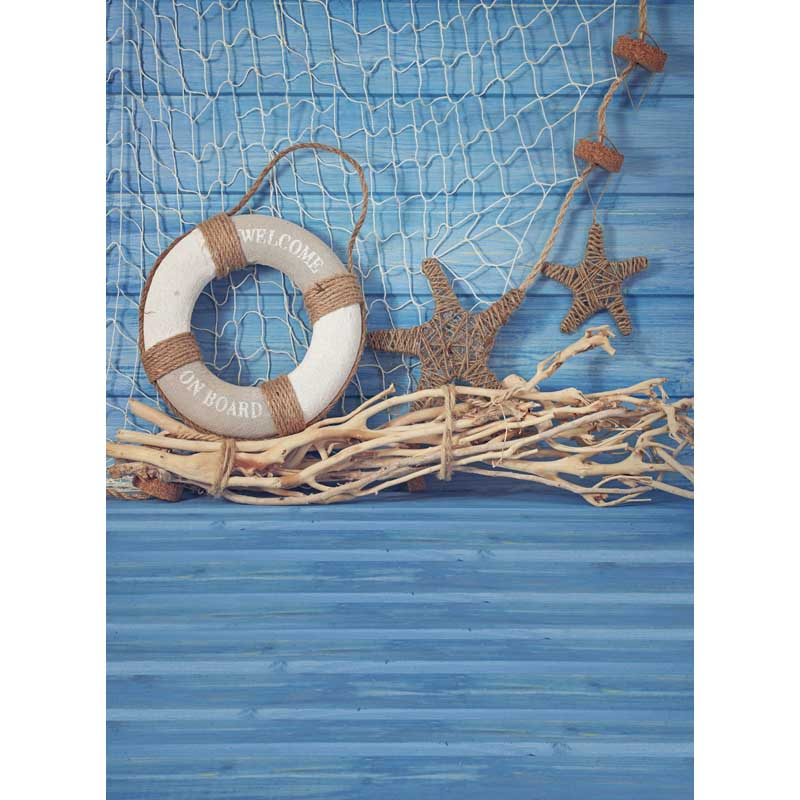 NeoBack Vinyl backdrops 150 220cm Photo Backdrops newborn Children photography backgrounds Summer blue Navy starfish buoy B0955 in Background from Consumer Electronics