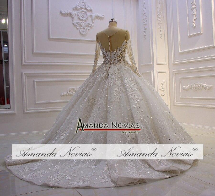 Image 4 - Amazing New Model 2019 Long Sleeve Lace Wedding Dresses Amanda NoviasWedding Dresses   -