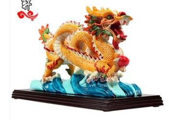 Jiaozhi pottery dragon decoration turn good luck auspicious dragon furniture decoration opening gifts materials