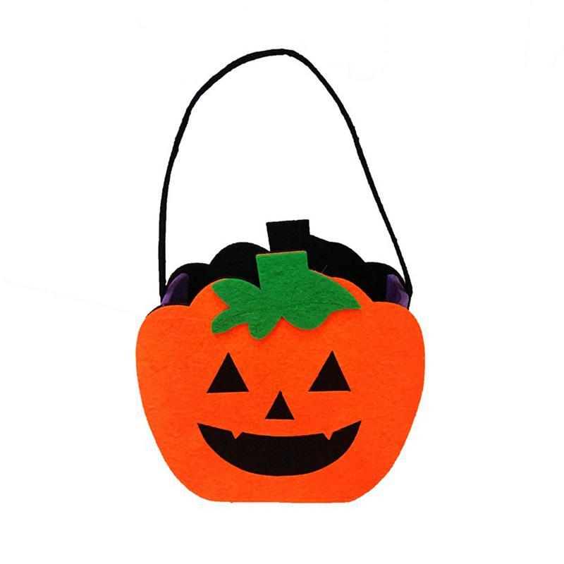 Halloween Non-woven Tote Bag Ghost Pumpkin Taro Felt Cloth Ornament Props Gift Bag Holiday Party Supplies