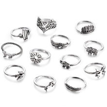 1 комплект модные очаровательные кольца с розами для женщин