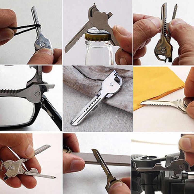 6 в 1 Карманный Брелок резак для выживания кемпинг многофункциональные инструменты для брелок для пеших походов аксессуары дропшиппинг