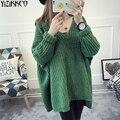 Женщины Свитер 2016 Зима Новая Мода Трикотажные Пуловеры Высокое Качество Длинные Свитера V-образным Вырезом Потяните Femme Sweter Mujer SZQ048