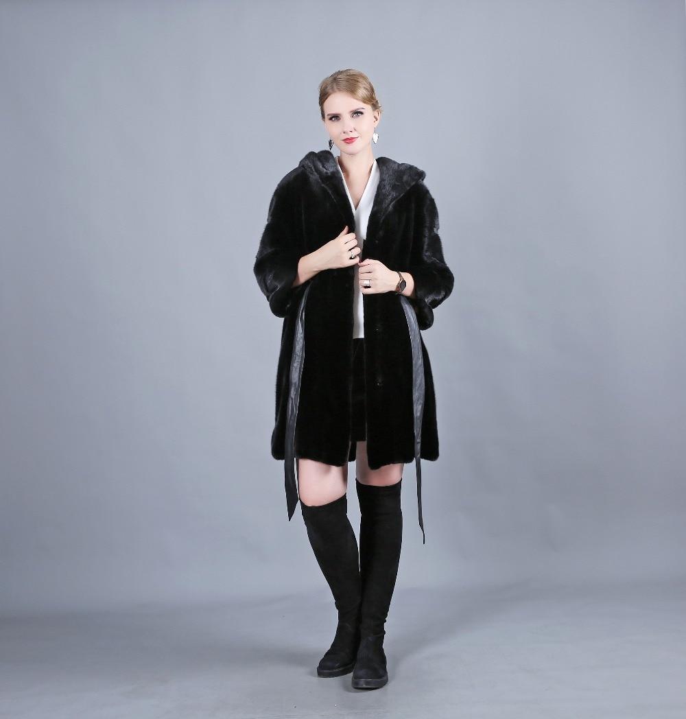 Vierge Une De Manches Noir Est Cuir Mode En Saillants Casual Danois Chapeau Élégant Horizontale Fourrure Fashion Manteau Ceinture Be Chaud Dame Hat Black Faits 5tOwq