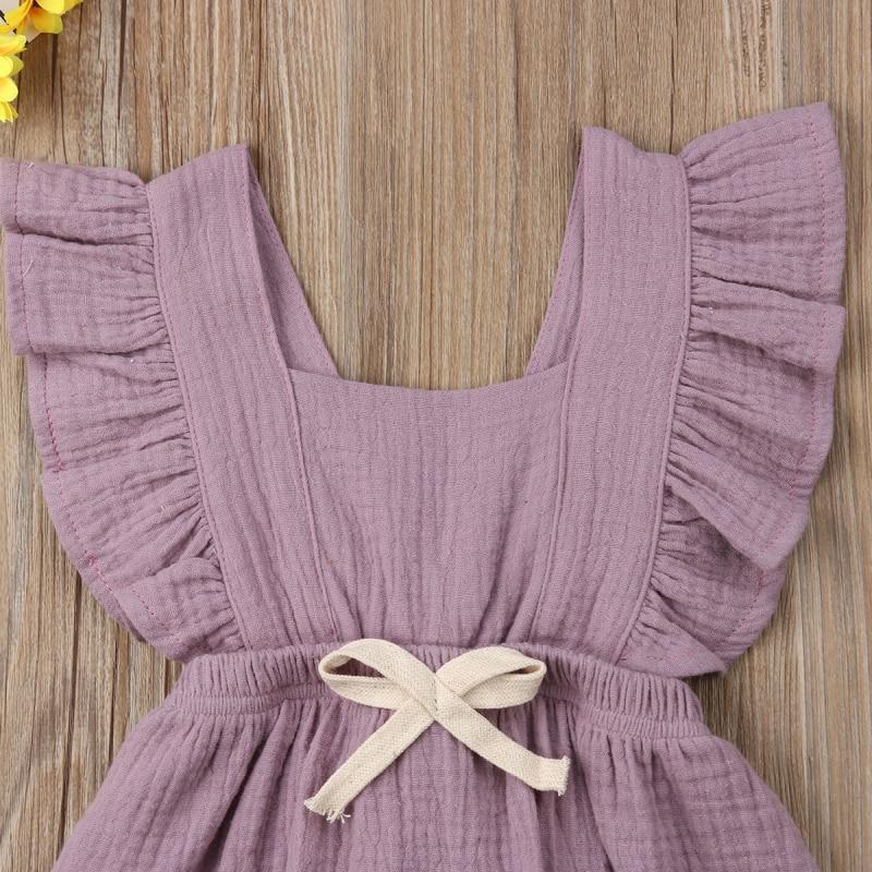 HTB1GjKbaEzrK1RjSspmq6AOdFXa2 6 Color Cute Baby Girl Ruffle Solid Color Romper  Jumpsuit Outfits Sunsuit for Newborn Infant Children Clothes Kid Clothing