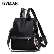 Fashion Women College Backpack Female Nylon Anti Theft Waterproof Ladies Multifunction Shoulder Backpacks Woman 2018