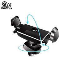 IKSNAIL 360 Rotation Air Vent Mount GPS Stand Auto Lock Car Phone Holder For iPhone X 8 Xiaomi Bracket Mobile
